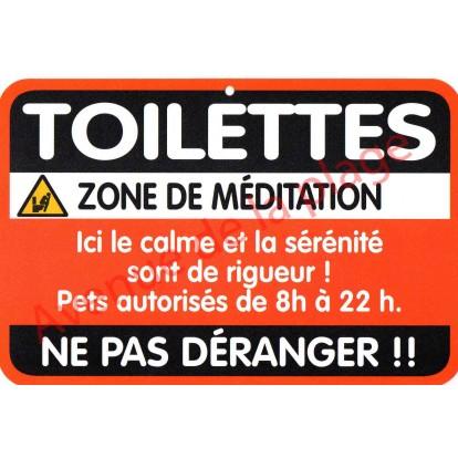 """Plaque de porte Danger """"Toilettes"""""""