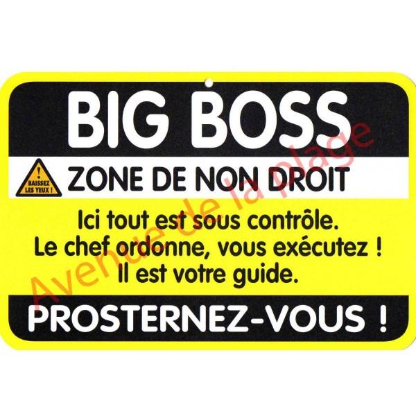 Plaque de porte danger big boss achat vente avenue for Plaque de porte humoristique