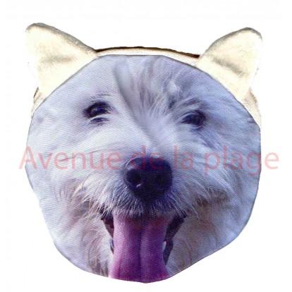 Porte-monnaie tête de chien Westy
