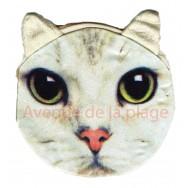 Porte-monnaie tête de Chat blanc