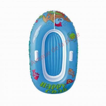 Bateau gonflable bleu pour enfant 137 cm