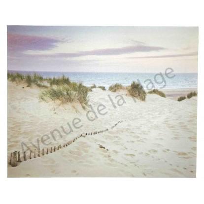 Toile imprim e les dunes et la plage deco style marin for Toile de plage ikea