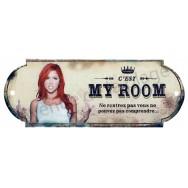 Plaque de porte chambre My Room