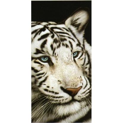 """Serviette de plage """"Tigre blanc"""""""