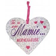 "Coeur à suspendre ""Mamie Merveilleuse"""