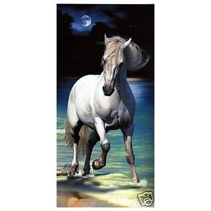 drap de bain cheval clair de lune vente drap de bain pas cher. Black Bedroom Furniture Sets. Home Design Ideas