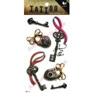 Tatouage temporaire clé et cadenas