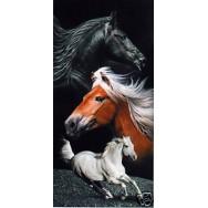 """Serviette de plage """"3 chevaux"""""""