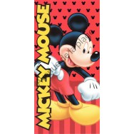 Serviette de plage Mickey Mouse rouge