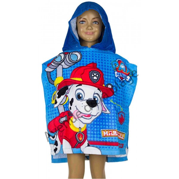 poncho de bain pat 39 patrouille marcus cape de bain paw patrol. Black Bedroom Furniture Sets. Home Design Ideas