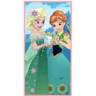 Drap de bain Reine des Neiges Elsa et Anna