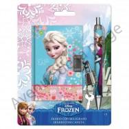 Set carnet et stylo La Reine des Neiges