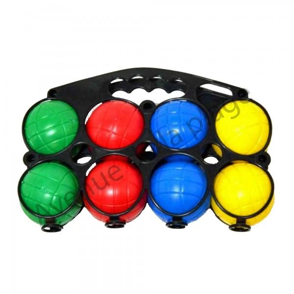 8 boules de p tanque en plastique pour enfant jeux pas cher. Black Bedroom Furniture Sets. Home Design Ideas