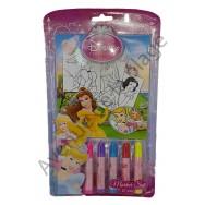 Set de coloriage Disney Princesse 27 pièces