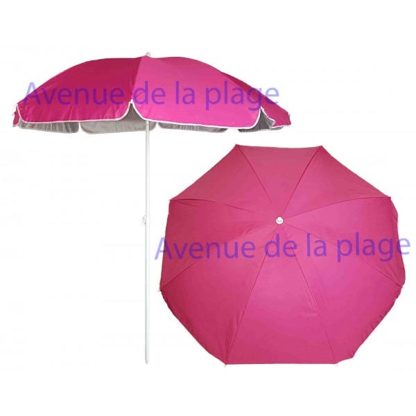 parasol de plage anti uv 50 fuschia 180 cm parasol anti. Black Bedroom Furniture Sets. Home Design Ideas