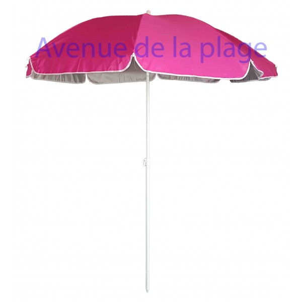 parasol de plage anti uv 50 fuschia 180 cm parasol anti. Black Bedroom Furniture Sets. Home Design Ideas