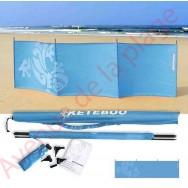 Paravent de plage Keteboo 300 x 80 cm, bleu.