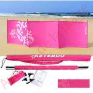 Paravent de plage Keteboo 300 x 80 cm, rose fuschia.