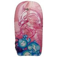 Bodyboard dauphins roses et bulles