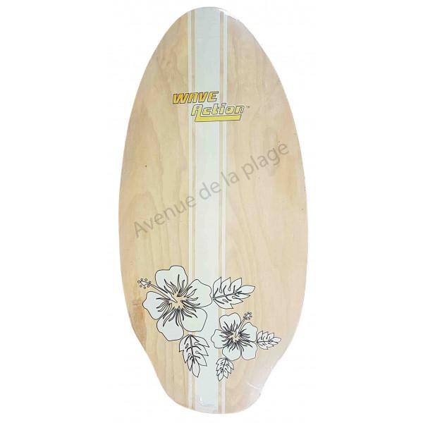 skimboard wave action hibiscus 104 cm planche de skim pas. Black Bedroom Furniture Sets. Home Design Ideas