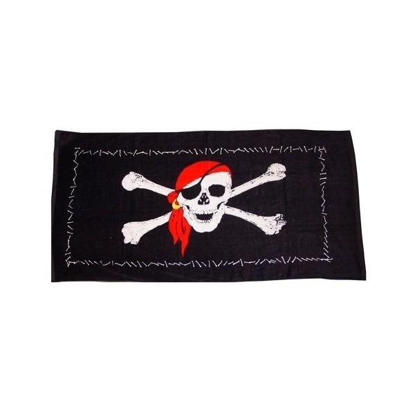 serviette de plage pirate achat vente drap de bain pas. Black Bedroom Furniture Sets. Home Design Ideas