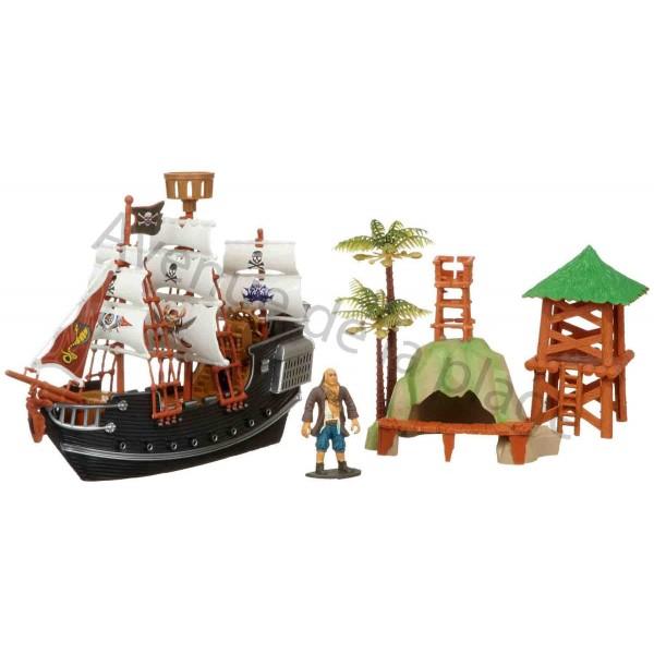 coffret bateau pirate en plastique jouet pour enfant pas cher. Black Bedroom Furniture Sets. Home Design Ideas