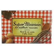 Planche à découper humoristique - Super Maman