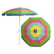 Parasol de plage anti UV 50 + multicolore 180 cm
