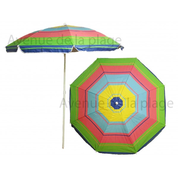 parasol de plage anti uv 50 multicolore 180 cm parasol pas cher. Black Bedroom Furniture Sets. Home Design Ideas