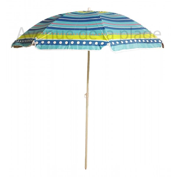 parasol de plage pas cher anti uv 50 pois et rayures 180 cm. Black Bedroom Furniture Sets. Home Design Ideas
