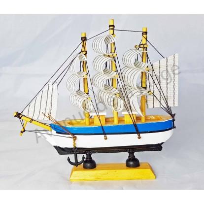 Maquette voilier Trois mâts 16 cm, modèle A.