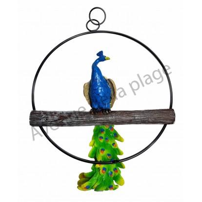 Perroquet sur perchoir 36 cm - Décoration de jardin