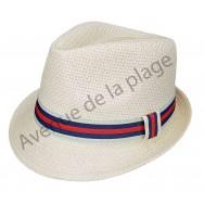 Chapeau Borsalino bande colorée