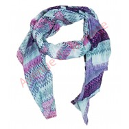 Foulard lignes violettes