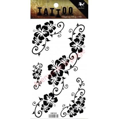 Tatouage temporaire fleurs d 39 hibiscus tattoo original pas cher - Tatouage fleur d hibiscus ...