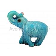 Sujet baromètre éléphant debout trompe en l'air