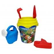 Seau de plage Mickey Racer avec accessoires