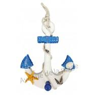 Patère ancre de bateau et étoile de mer 29 cm