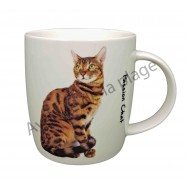 Mug chat Toyger roux et noir