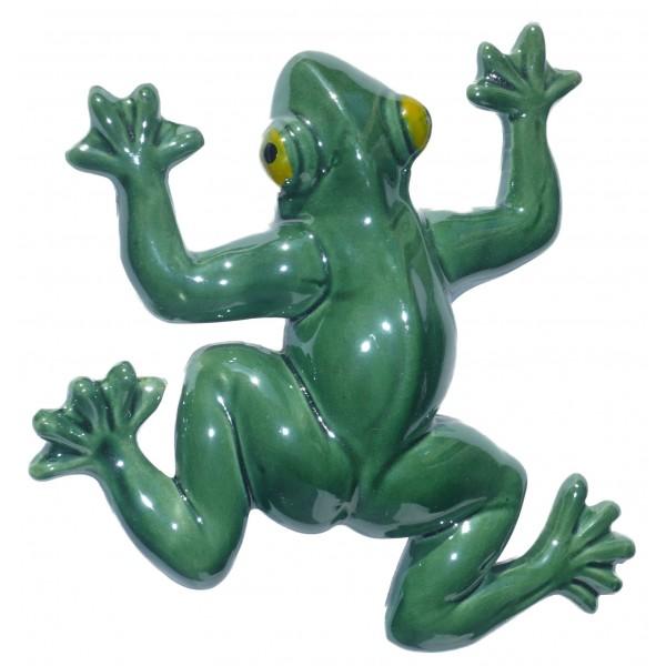 D coration de jardin grenouille 15 cm en c ramique pas for Decoration jardin grenouille