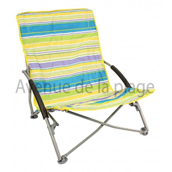 Chaise de plage basse pliante pas cher achat avenue de for Chaise basse de salon