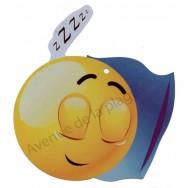 Pancarte Émoticône dormeur