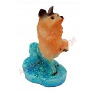 Statuette baromètre chien qui donne la patte