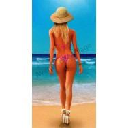 Serviette de plage Fille en bikini sur la plage