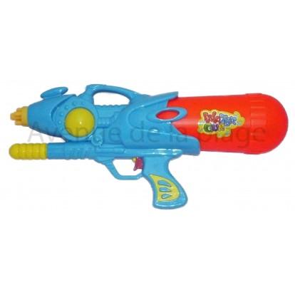 Pistolet à eau pression 36 cm bleu.