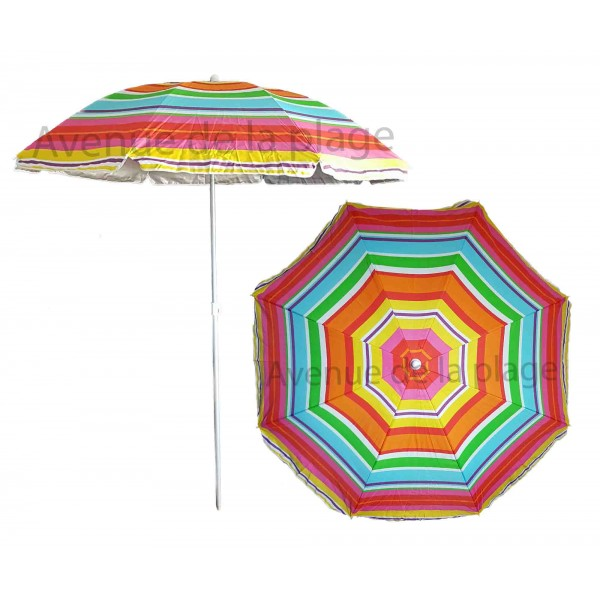 Parasol de plage anti uv multicolore 200 cm parasols - Parasol anti uv 50 ...
