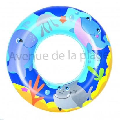 Bouée pour enfant 51 cm bleue.