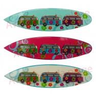 Magnet planche de surf et Van de surfeur
