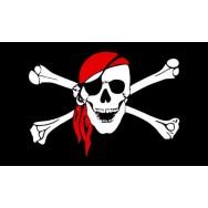 Drapeau pirate, pavillon pirate corsaire, effet ancien déchiré