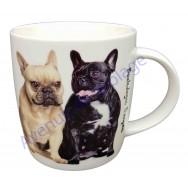 Mug chien 2 Bouledogues Français